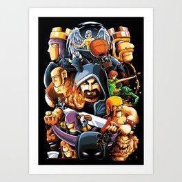The Clan Warrior Art Print