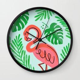 FLOCKIN FLAMINGO ART Wall Clock