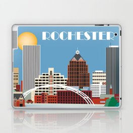 Rochester, New York - Skyline Illustration by Loose Petals Laptop & iPad Skin