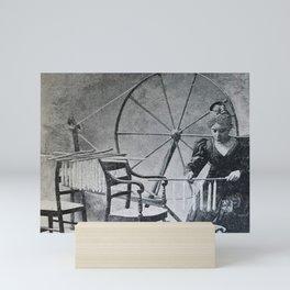 Antique candle making Mini Art Print