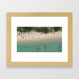 Aerial Secret Beach Koh Phangan Thailand Framed Art Print