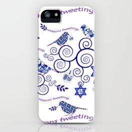 Hanukkah Seasons Tweetings  iPhone Case