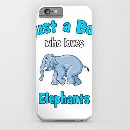 Elephant Shirt for Boys  Kids Elephant T-Shirt iPhone Case