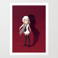 shadow Art Prints featuring Shadow by Freeminds