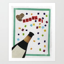 Hooray! Celebration Art Print