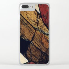 Epidote and Quartz Clear iPhone Case