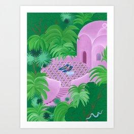 La Terrasse Ovale Art Print
