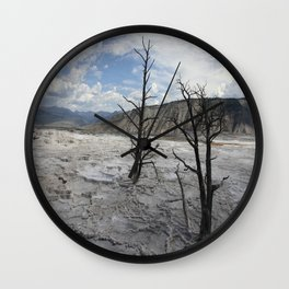 Mammoth Hot Spring  Terrace Wall Clock