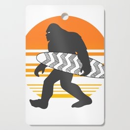 Bigfoot Surfing, Hide Seek and Go Surf  Cutting Board
