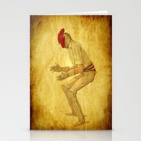 cock Stationery Cards featuring Cricket cock by Joe Ganech