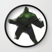 hulk Wall Clocks featuring Hulk by Josh Belden
