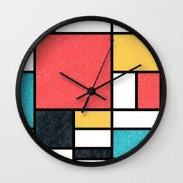 Clean Mondrian (Sponge) Wall Clock
