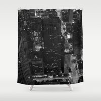chicago Shower Curtains featuring chicago  by Dom Lopez