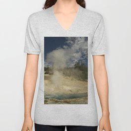 Norris Geyser Basin - Beryl Spring Unisex V-Neck