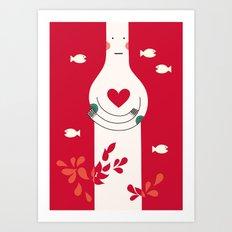 It is in my heart already Art Print