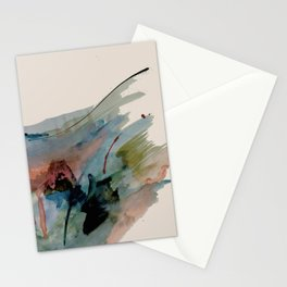 Begin again [2]: an abstract mixed media piece in a variety of colors Stationery Cards