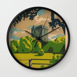 Irleand Land of Romance Travel Poster Wall Clock
