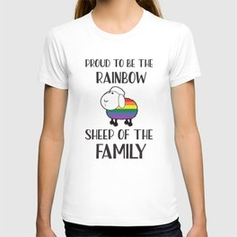 Proud To Be The Rainbow Sheep Of The Family Quote T-shirt