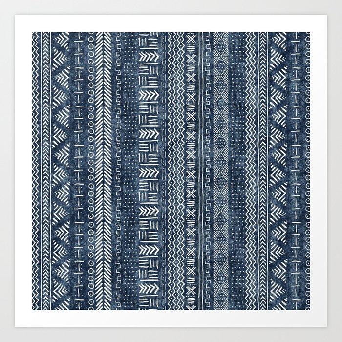Mud Cloth Stripe Kunstdrucke