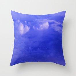 Aerial Blue Hues II Throw Pillow