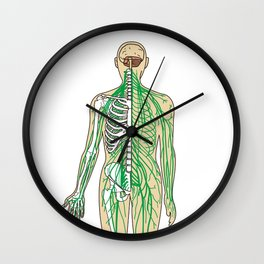 Human neural pathways Wall Clock
