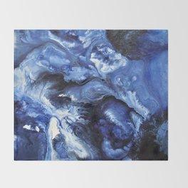 Swirling Blue Waters II - Painting Throw Blanket