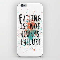 Fail is not always a failure iPhone & iPod Skin