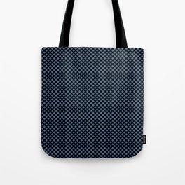 Black and Riverside Polka Dots Tote Bag