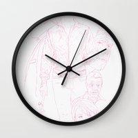 drive Wall Clocks featuring Drive by Matthew Bartlett