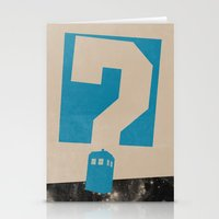 doctor who Stationery Cards featuring Doctor  Who? by Travis English