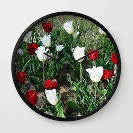 JC Floral Art 06 Wall Clock