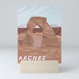 Arches National Park, National Parks Poster, Illustrated Arches, Utah, Capitol Reef, Zion Mini Art Print