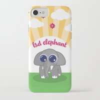 lsd iPhone & iPod Cases featuring LSD Elephant by flydesign
