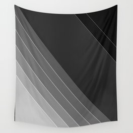 Black and white geometric pattern Wall Tapestry
