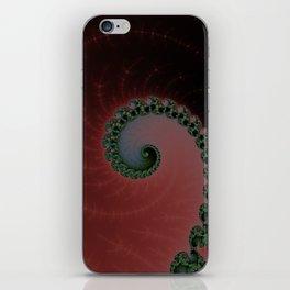 Green Spiral on Burgundy iPhone Skin