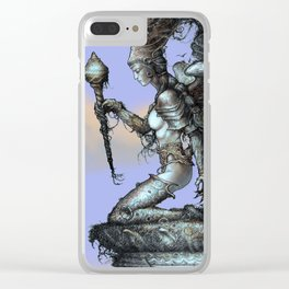 Queen of wands Clear iPhone Case