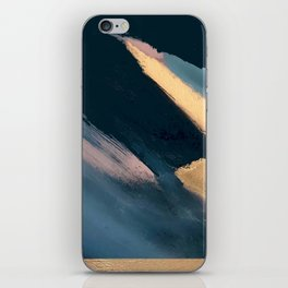 Ignite: colorful abstract in blue pink and gold iPhone Skin