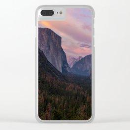 Yosemite Sunset Clear iPhone Case