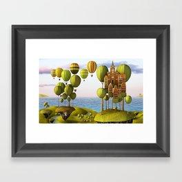 City in the Sky_Lanscape Format Framed Art Print
