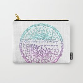 Equanimity / Jonah 2:2 / Pink Blue Carry-All Pouch