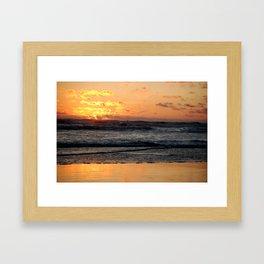 Burning Waves Framed Art Print