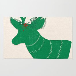 Green Stag Rug