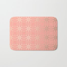 Simply Vintage Link in White Gold Sands and Salmon Pink Bath Mat