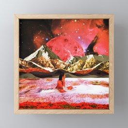Moon bath Framed Mini Art Print