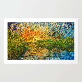 Explosions of Lake and Sky by Joel A Conner Art Print