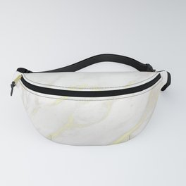 Elegant White & Gold Metallic Marble Fanny Pack
