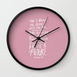Jeremiah 29: 11 x Rose Wall Clock