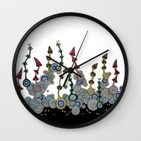 mushroom Wall Clocks featuring mushroom by Sèиga