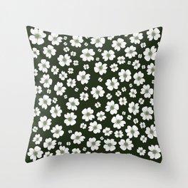 Dogwood Flowers Throw Pillow