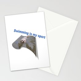 Swimming is my sport Stationery Cards